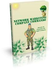 Network Marketing Company Commando Ebook On CD $5.95 + Resale Rights Ships Free