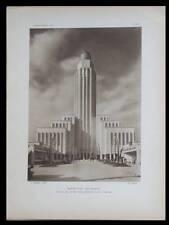 L'ARCHITECTE 1931 EXPOSITION COLONIALE, CITE INFORMATIONS, MADAGASCAR CAMEROUN