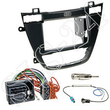 Opel Insignia 2008-2013 Doppel-DIN Radioblende schwarz ISO Adapterkabel Antenne