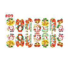 New ristmas Nail Art Sticker 3D Design Manicure Tips Decal Wraps Decorate DIY #1