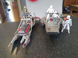 Star Wars Force Awakens, Figures And Vehicles Job Lot