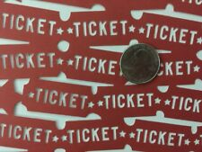 "RED TICKET LACE Cardstock Paper (12""x12"")Ki•Amusement Park•Raffle •Movies•Games•"