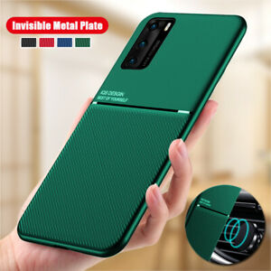 Magnetic Metal Slim Hybrid Case Cover For Huawei P40 P30 Pro Mate 20 P20 Lite