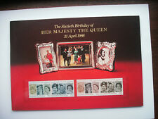 1986 - Gb - The 60th Birthday of Her Majesty. Sourvenir Booklet. Mint stamps.