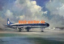Vieja ak/Vintage Postcard: klm's Lockheed prop-jet Electra (50er/60er años) #2