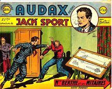 AUDAX JACK SPORT 1ère SERIE FORMAT ITALIENNE N° 53  DE 1951 EDITIONS ARTIMA