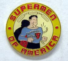 "Supermen of America Logo Metal/Cloisonne Pin 1.25"""