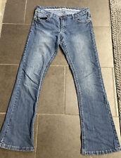 "Rue 21 Women's Mid Rise Boot Denim Blue Jeans Size 5/6 Short  Inseam 26"" B"