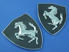FERRARI CARBON FIBER FENDER SHIELDS/BADGES - 488,550,575,599,612,F12,California