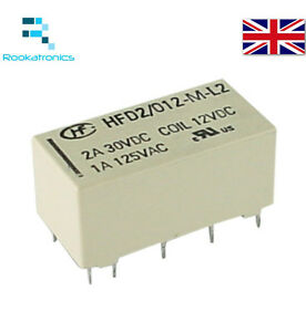 12VDC Coil Bistable Latching Relay DPDT 2A 30VDC  - High Quality Free Postage