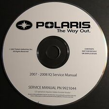 2007-2008 POLARIS SNOWMOBILE IQ SERVICE MANUAL CD P/N 9921044-CD  (300)