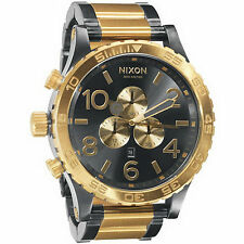 nixon 51 30 chronograph a083595 wrist watch for men new authentic nixon watch mens 51 30 chrono gunmetal gold a083 595 a083595