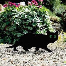 Garden Mile Pack of 3 Black Powder Coated Metal Cat Bird Animal Fox Humane