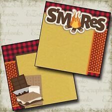 S'MORES - NPM - 2 Premade Scrapbook Pages - EZ Layout 2423