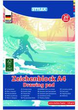 Stück Zeichenblock A4 20 Blatt 120g/m² Zeichenblöcke Zeichenpapier Malblock!