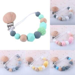 Baby Beaded Pacifier Clip Silicone Chain Nipple Holder Soother Teether NICE