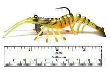 PACK OF 2 Soft bait real Prawn Shrimp fishing lure 100mm 4'' FISHIN ADDICT
