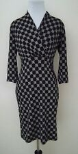 Modcloth Dress Tile and Again Knit in Black (S) Gilli 3/4 Sleeves Shift Stretch