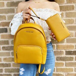 Michael Kors Medium Erin Backpack Marigold + Phone Wristlet Wallet
