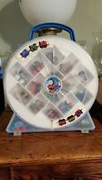 17 Piece Thomas the Train and Friends Minis  Train Engine Lot with Carrying Case