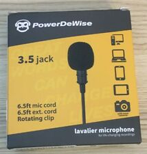 PowerDeWise Professional Grade Lavalier Lapel Microphone for Recording Youtube