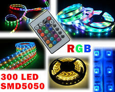 Striscia led smd 5050 300led 5mt strip led rgb bobina led multicolor IP 66