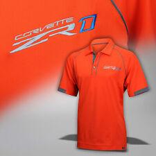 2019 Corvette C7 Mens Sebring Orange Polo Shirt with ZR1 Logo 637114