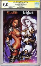 LADY DEATH DAMNATION GAME #1 VARIANT CGC 9.8 SS Signed Monte Moore & Pulido!!