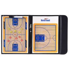 Foldable Magnetic Basketball Coach Board Tactic Training Clipboard Game Match