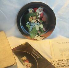 1990 Knowles Sundblom Santa Claus Collector Plate Christmas Vigil Coa / Box
