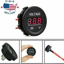 Red LED Digital Display Voltmeter Car Motorcycle Voltage DC Waterproof 12/24V
