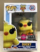 Funko Pop! Disney Pixar TOY STORY 4 DUCKY (Flocked) FYE  Exclusive In Hand NEW