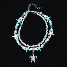Beach Sandal Chain Women Jewelry New Fashion Tortoise Foot Ankle Beaded Bracelet