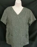 Grey's Anatomy gray short sleeve medical scrub women's XL