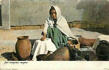 Udbk Mexico Postcard M349 Hot Tamales Street Vender Woman Girl Selling Tamales