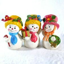 3 Cute NAPCOWARE Christmas Snow Girls