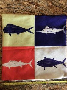 Fishing Yacht Fisherman's Couch Game Fish Grand Slam Pillows! Pelagic Species