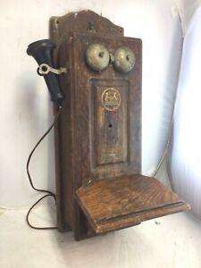 Vintage Antique Swedish American Telephone Co. Hercules Crank Wall Phone