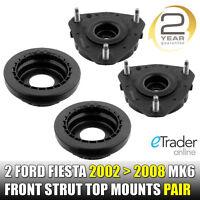 FORD FIESTA MK5 MK6 2002 -2008 FRONT STRUT TOP MOUNT PAIR MOUNTS x2 BEARINGS