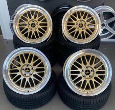 19 pollici kt22 CERCHI PER AUDI a3 s3 TT LEON CUPRA VW Golf 4 GTI Le Mans ORO r32