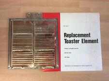 Vintage Tostadora Elemento, Rowlett final tipo, 230v-250v, 400 W, TOE124P