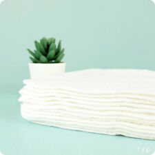 Muslinz 12pk Wipes Bamboo Cotton Terry 20x20 Cms Face Cloth White