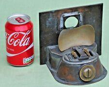 Antique Vintage Ships Masthead Oil Lamp Twin Copper Burner G.P Ltd 1943 Spares