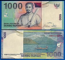 Indonesia P-141 1000 Rupiah Year 2000 (2001) Volcano Uncirculated Banknote