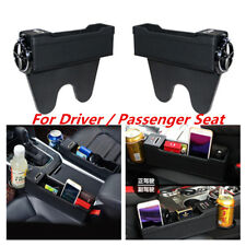 Deluxe Black SUV Car Seat Gap Catcher Storage Console Catch Box Universal 2Pcs