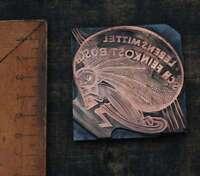KIND m.SACK  Galvano Druckplatte Klischee Eichenberg printing plate copper print