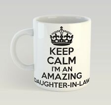 Keep Calm I'M An Amazing Daughter-In-Law Mug Funny Birthday Novelty Gift