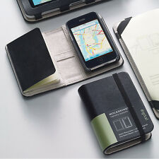Moleskine legendario portátiles Folio Smart Phone de la cubierta del iPhone 3G/3GS-Negro