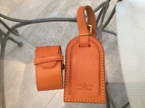 LOUIS VUITTON STRAP HOLDER and Address Tag for KEEPALL/BANDOULIERE Vachetta #A15