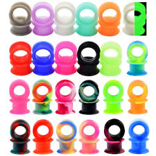 48Pcs/Lot Thick Silicone Ear Gauges Double Flared Earskin Tunnels Plugs Expander